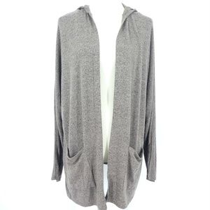 AE Soft & Sexy Plush Taupe Open Front Cardigan